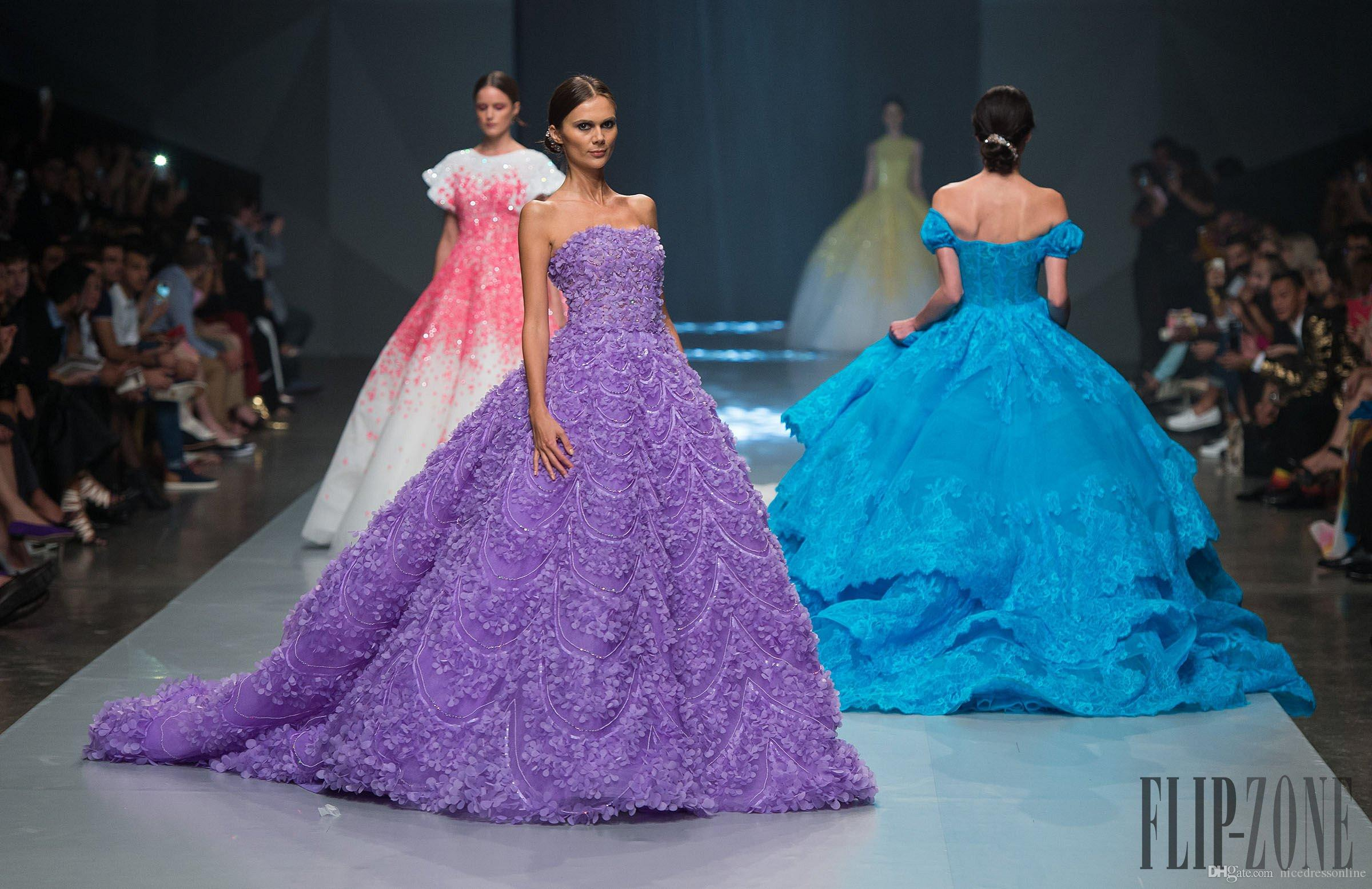 Michael Cinco Inspired Royal 2015 Wedding Dresses With Off
