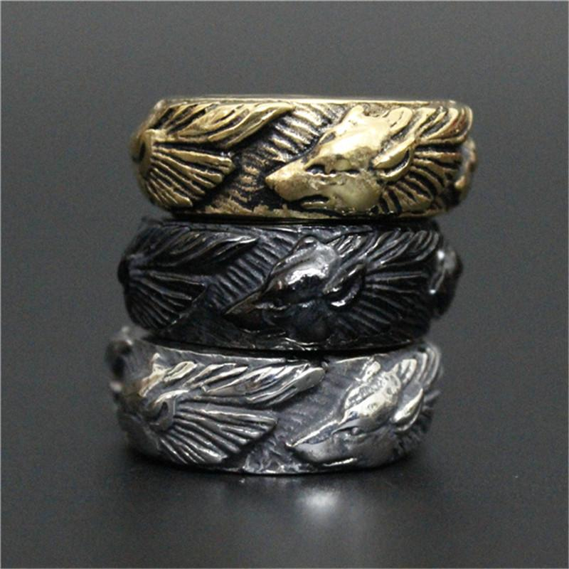 Size 8 13 New Arrival Unisex Wolf Animal Ring 316l