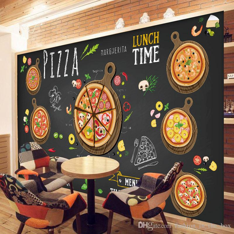 Custom 3D Wallpaper For Walls 3D Pizza Shop Wall Mural