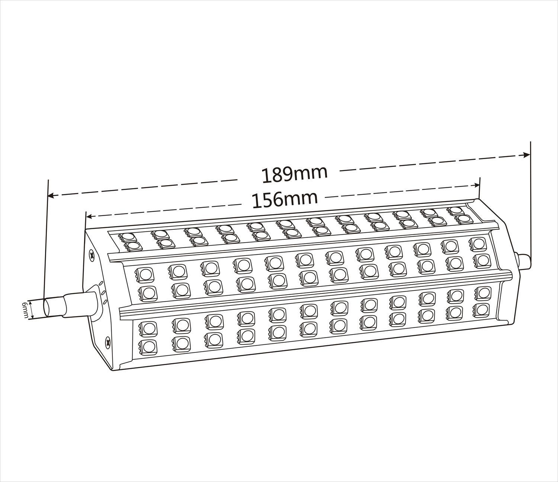 R7s Led 10w 12w 15w 20w Corn Bulb 78mm 118mm 189mm