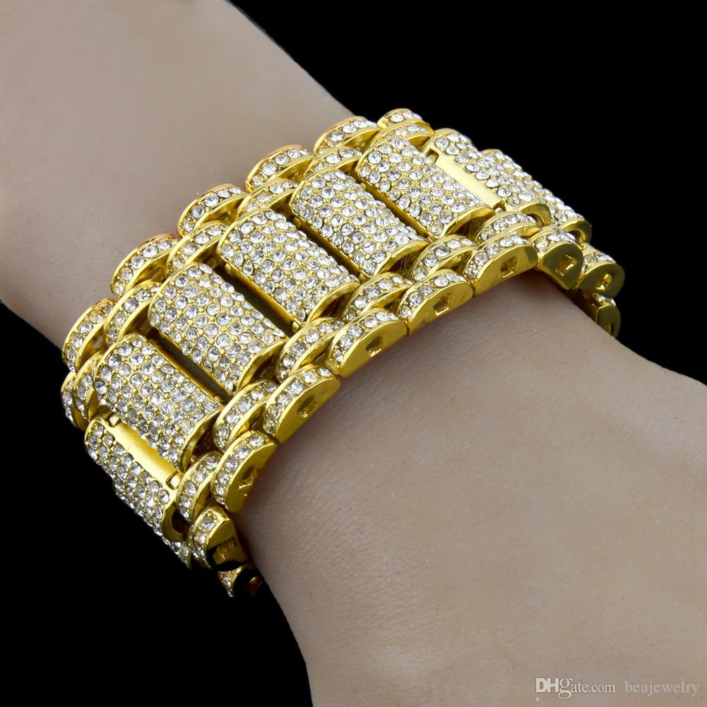 Hip Hop Rock Style Simulate Diamond Iced Out Bracelets