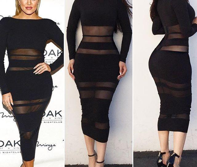 Newest Style  Hot Black Sexy Party Dress Women Night Club Dress Crew Neck Long Sleeve Sheath Celebrity Dresses From Sunny Dhgate Com