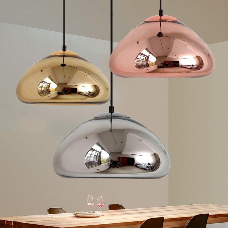 acheter vide cuivre en laiton bol miroir en verre moderne pendentif lampe lustre plafonnier pour salle a manger cuisine bar decor a la maison de 38 88 du