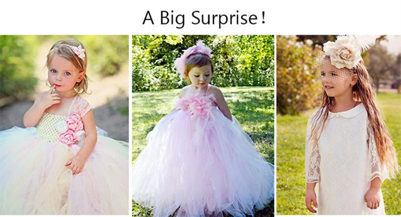 Handmade Removable Long Train Tail Girls Tulle Tutu Dress