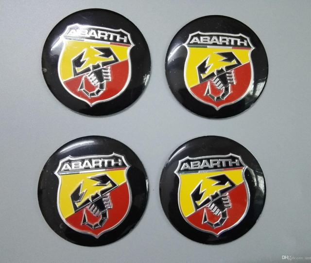 Mm Abarth Car Emblem Wheel Center Hub Cap Badge Wheel Decal Sticker Car Accessories For Fiat   Ot Coupe From Annaautoshop