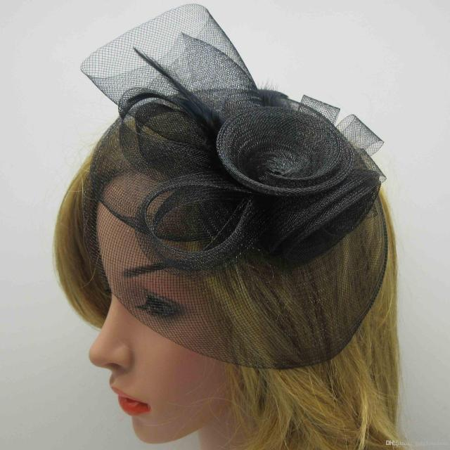 2017 bridal hair accessories feathers decortion round tulle women s wedding party banquet fascinators bridal hats headpiece