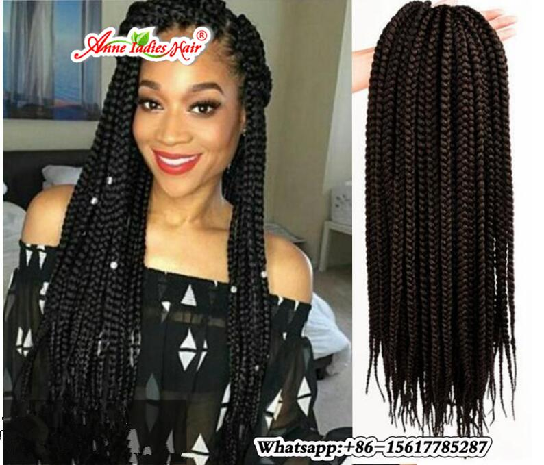 24 Strands Crotchet Braids Ombre Kanekalon Braiding Hair