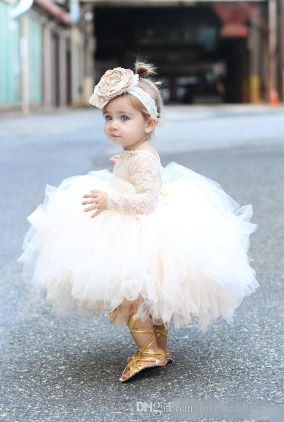Baby Infant Toddler Pageant Clothes Flower Girl Dress