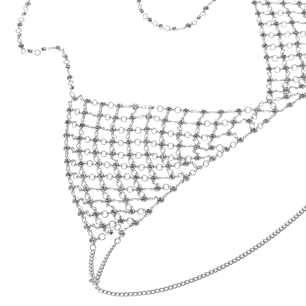 Fashion Brand Caw Crystal Bra Slave Harness Body Chain