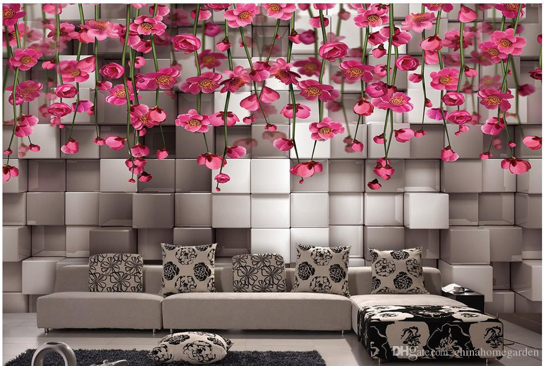 3d Wallpaper For Room Three Dimensional Black And White Squares Red     Wide 3d wallpaper