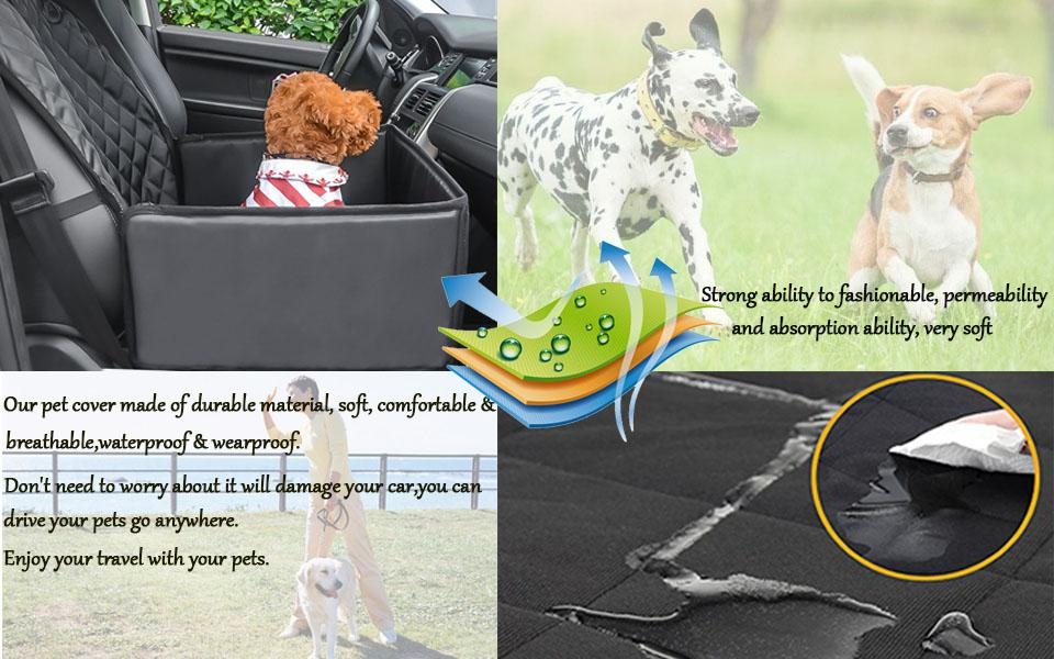 Pet Car Dog Seat Cover for Small   Medium Dogs Front Waterproof     Fitment Fit for most of small and medium size dogs and suit for vehicles  including cars  trucks  vans and SUVs