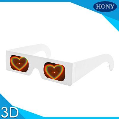 Wholesale- 20pcs/lot Paper Cardboard 3d firework glasses, cheap diffraction glasses,heart diffraction glasses wholesale