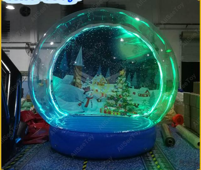 Illuminated Inflatable Snow Globe For Christmas Decoration Good Quality Snow Globe For Photographyinflatable Human Size Snow Globe Snow Globe Christmas