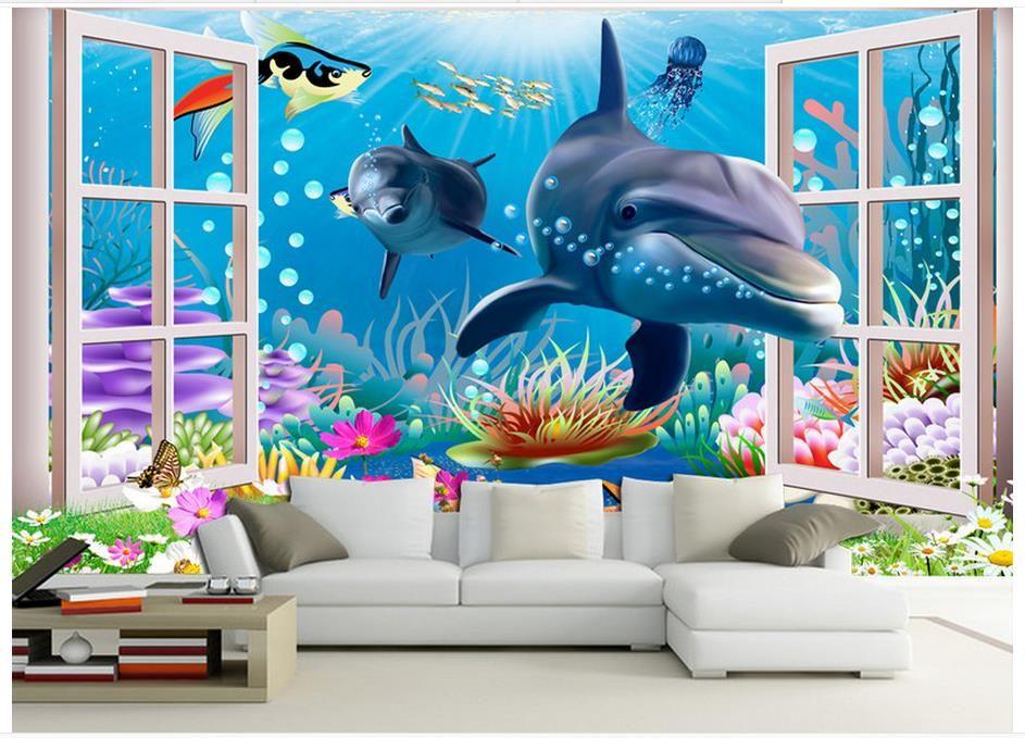 Großhandel 3D Fototapete Benutzerdefinierte 3D Wandbilder