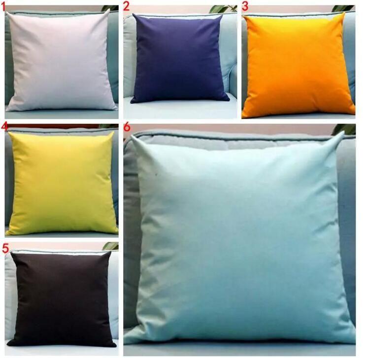 acheter taie d oreiller de couleur bonbon taies d oreiller de couleur pure taie d oreiller solide housse de coussin tendance nap decoration de salon canape