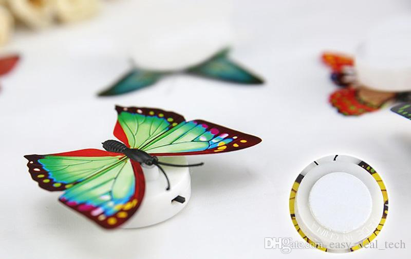 2018 Wholesale Colorful Battery Artificial Butterfly Night