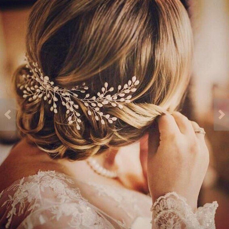 romantic ivory pearl bridal hair comb wedding hair accessories bridal hair vine tiaras bohemian pearl head piece cheap bridal hair accessories uk comb hair