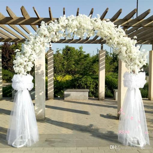 Romatic Wedding Center Pieces Metal Wedding Arch Door Hanging     Romatic Wedding Center Pieces Metal Wedding Arch Door Hanging Garland  Flower Stands With Cherry Blossoms Flower For Wedding Event Decoration  Wedding