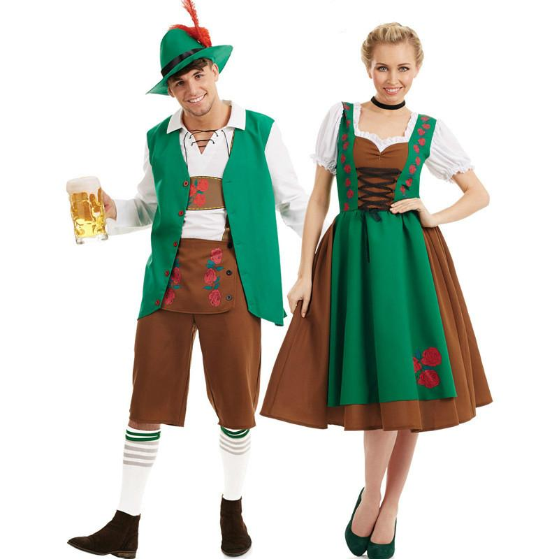 Women Man Bavarian Oktoberfest Costume German Beer Costumes     Women Man Bavarian Oktoberfest Costume German Beer Costumes Halloween Party  Couple Festival Beer Clothes Cosplay Outfit Funny Halloween Costumes Pirate