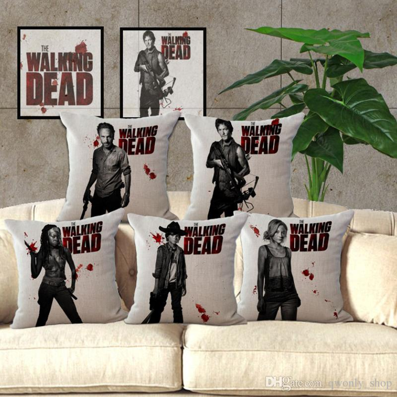 the walking dead pillow case cushion cover linen cotton throw pillowcases sofa bed pillow covers pillowcase dimensions white pillowcases from qwonly shop