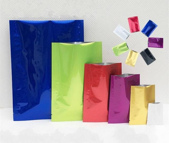 Multicolor Plastic Bag Mylar Aluminum Foil Packing Bags Powder Tea Leaf Food Moisture Proof Vacuum Storage Pouch Durable  Sy Yy Santa Christmas Wrapping