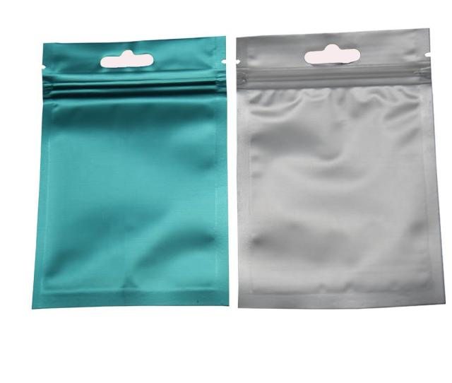 Zipper Bag Frosted Clear Plastic Front Ziplcok Package Pouch With Hang Hole Zip Lock Package Bag Heat Sealable Aluminum Foil Bag Reclosable Mylar Bag