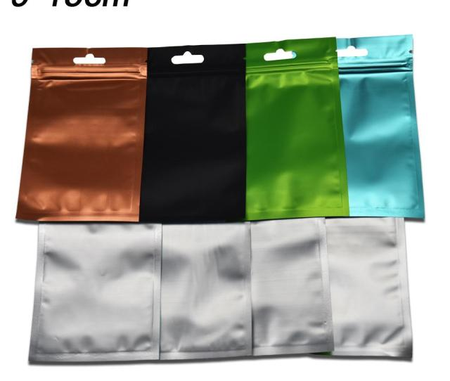 Cm Various Colors Frosted Mylar Resealable Packing Bags With Hang Hole Aluminum Foil Zip Lock Food Package Bag Mylar Packing Bags Resealable Packing