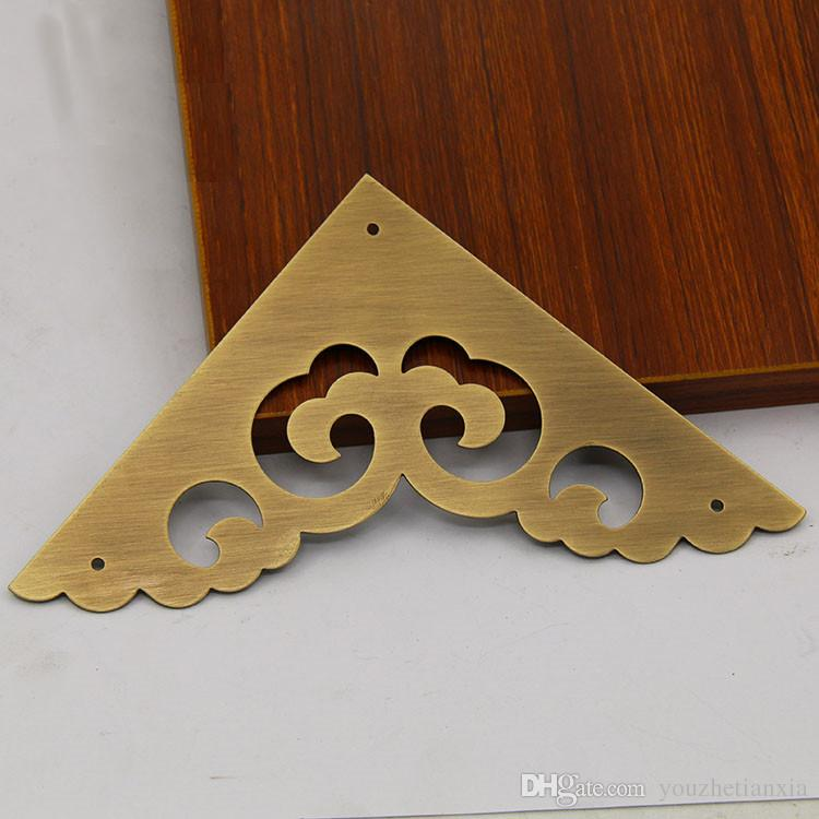 acheter 2 couleurs antique en laiton support de meuble armoire de bureau boite a bijoux boite en bois materiel coin en dentelle creux de 28 85 du
