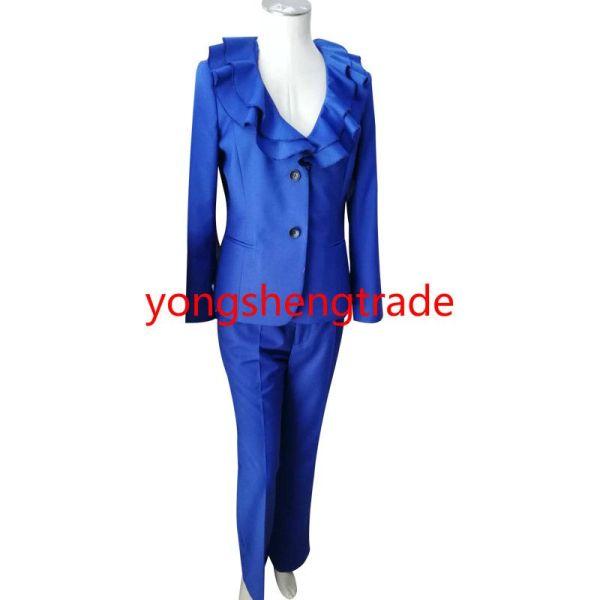 2018 Hot Sell Designer Suit Long Sleeve Ruffle Collar ...