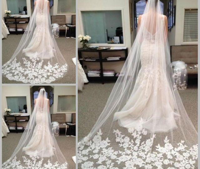 Best Selling Cheapest In Stock  Meters Long Bridal Veil Appliques  Veu De Noiva Longo Wedding Veil Lace Purfle With Comb Bridal Veil Long Bridal Veil