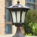 2020 New Arrivals Solar Power Post Lamps Outdoor Waterproof Brown Garden Lights Decorative Landscape Solar Light Led Post Lighting Fixture From Forlight 142 24 Dhgate Com