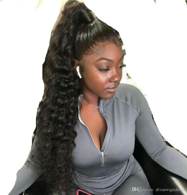 long ponytail hairstyle kinky curly ponytail long wavy curly hair bun extension with two plastic combs hairpiece (1b) 140g wrap ponytails