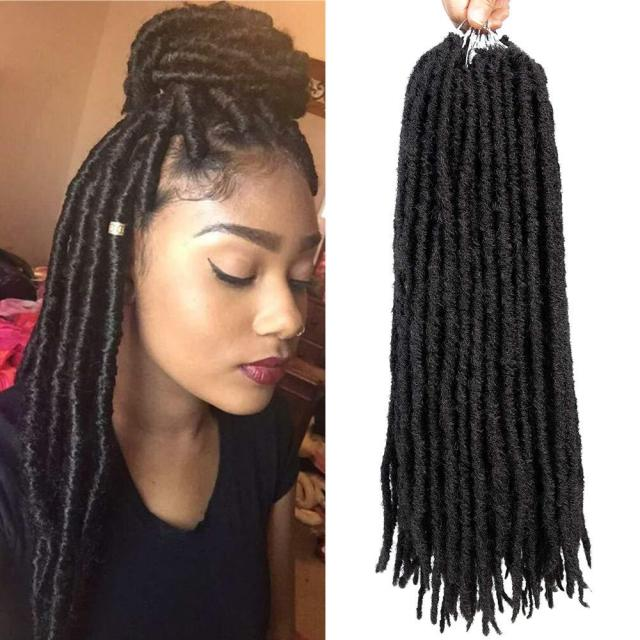 1packs 24root goddess faux locs crochet hair 18inch synthetic straight twist braiding hair extensions havana mambo crochet braids dreadlocks