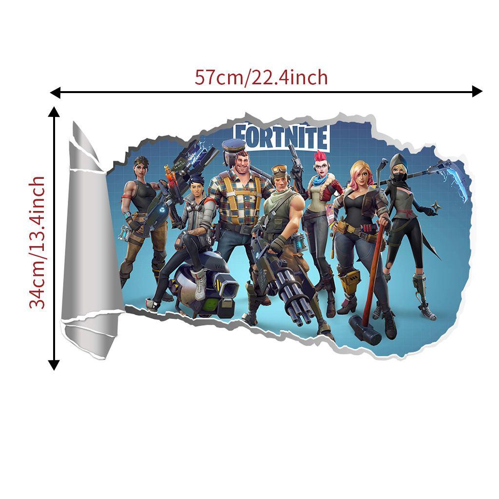 Compre 3D Fortnite Jogo Adesivos De Parede Decalque