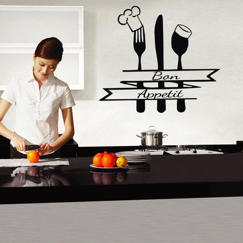 acheter couverts stickers muraux decoration cuisine maison interieur decoration murale vinyle art stickers muraux peintures amovibles de 6 57 du