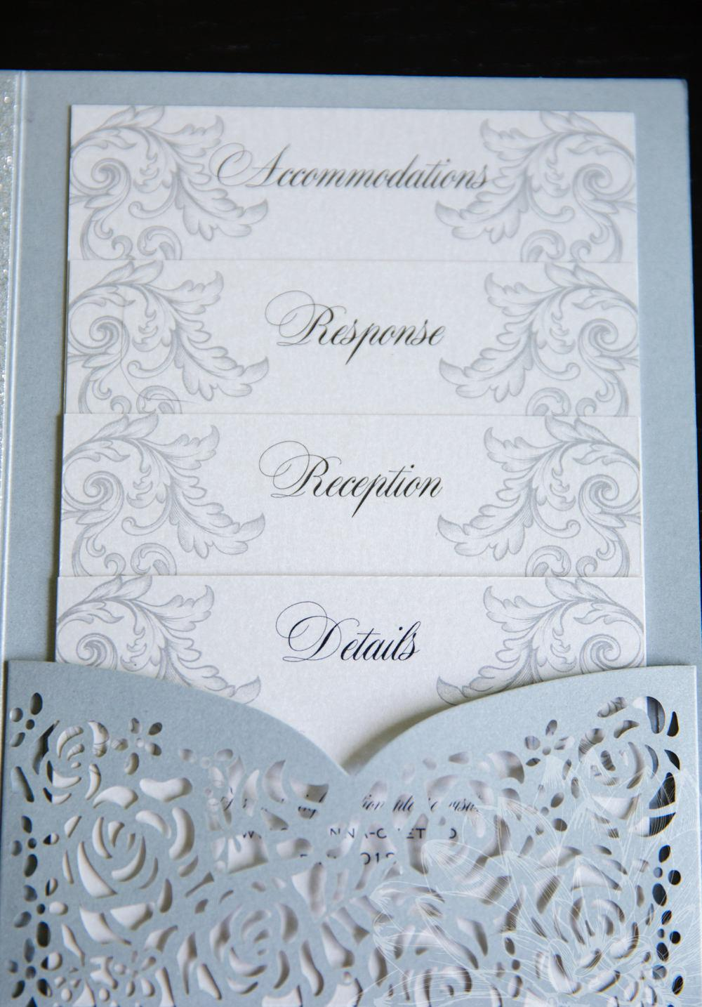 Blank Rustic Wedding Invitation Kits