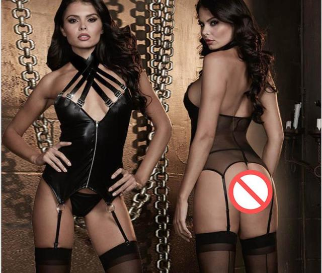 Erotic Underwear  New Sexy Imitation Skin Pu Transparent Siamese Outfit Wild Hot Adult Sexy Underwear Clothing Siamese Dress From Ningzhiorg