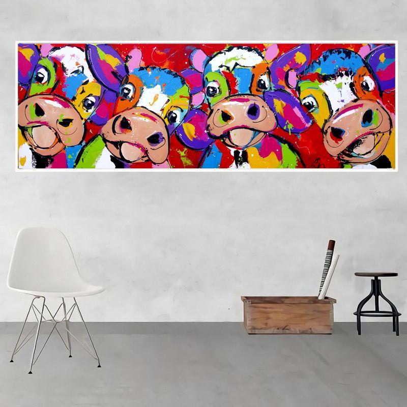 acheter grand mur art toile peinture moderne abstraite graffiti image colore vaches peinture affiche pour la maison salon decoration murale de 9 28