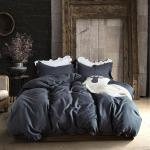 2021 Lucky King Size Bedding Set Dark Gray 100 Microfiber Duvet Cover Set With Zipper Closure Solid Color Simple Style For Home Adults Sheet Set From Luckyjj 36 18 Dhgate Com