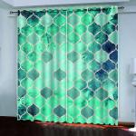 2021 3d Blackout Curtain Custom Blue Green Stereo Pattern Curtains Bedroom Living Room Bathroom Kitchen Curtain Decor From Lcwallpapers 78 Dhgate Com