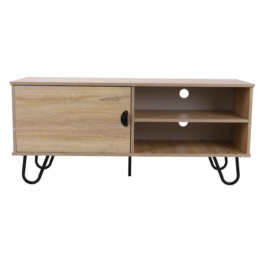 acheter nouveau design meuble tv tv table console armoire en bois table basse the avec 2 etageres de rangement et porte metallegs de 469 19 du yechain fr dhgate com