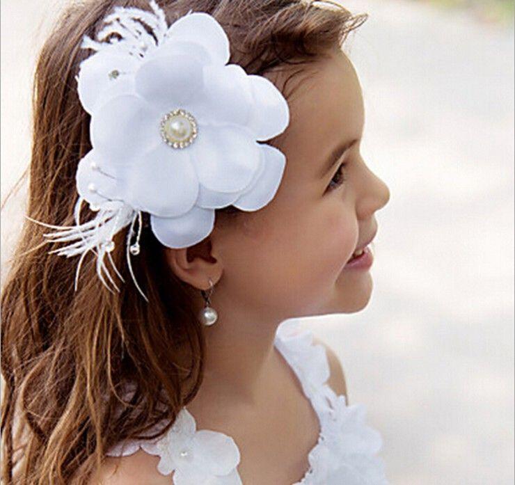 new flower girl hair accessories children tiaras fashion hair flowers wedding dress accessories girls cute flower