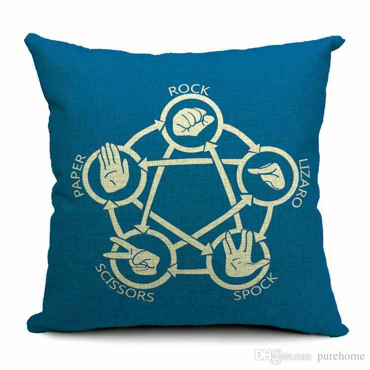 the big bang theory thick cotton and linen pillow case decorative sofa cushion cover home office