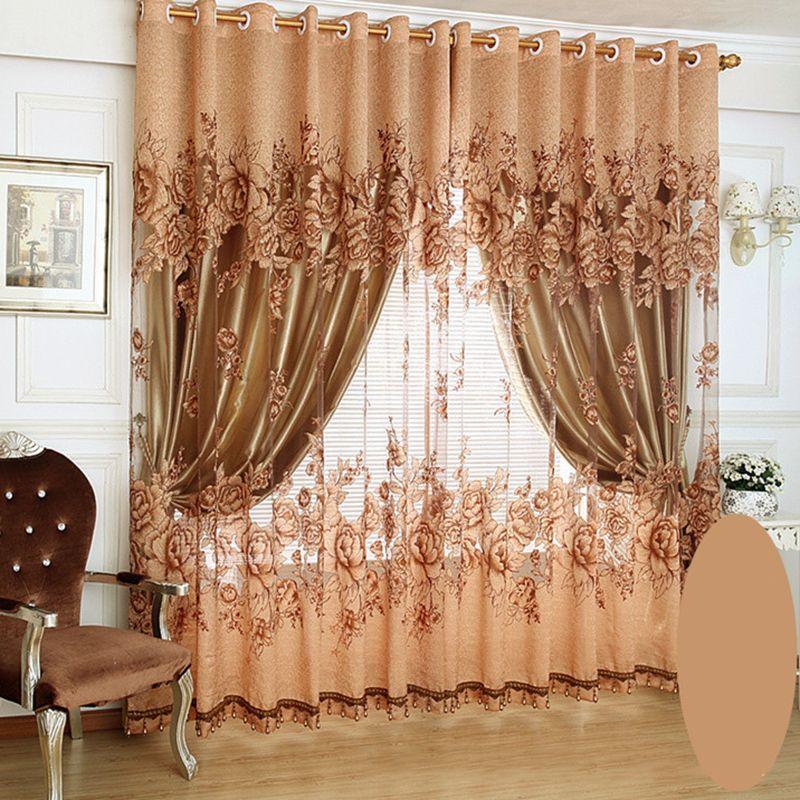 luxe salon rideaux occultants rideaux de chambre rideaux et stores rideaux de fenetre brode pivoine impression