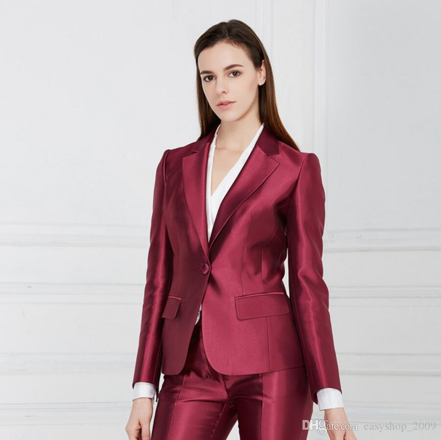 2019 2018 Female Career Suits Satin Custom Formal