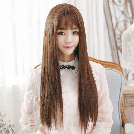 European Virgin Hair Human Hair Silky Straight Wig Chinese