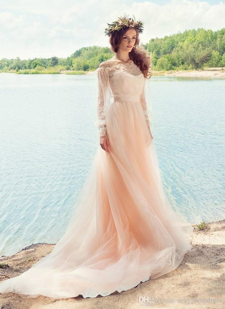 Discount Pink Fairy Wedding Dresses Country Style Off