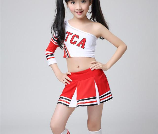 Cheerleading Uniforms Pom Poms Women Teens Girl Sexy Cheerleaders Clothing Gym Suit Party Sports Cheers Cos