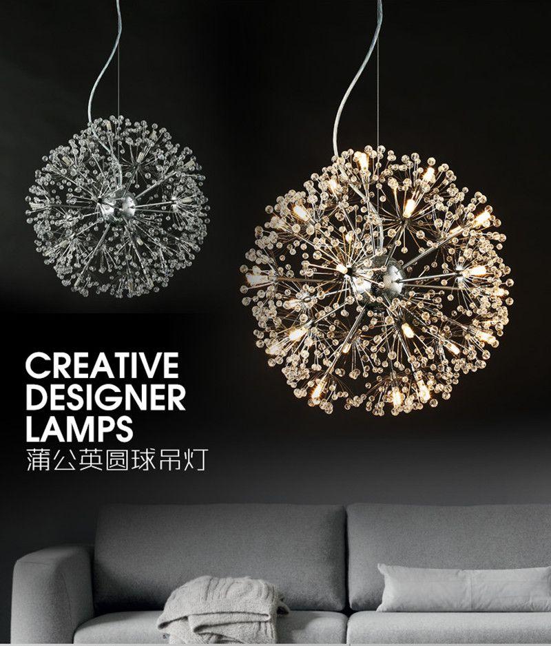 Modern Led Dandelion Pendant Lamp Flower Ceiling Lamp