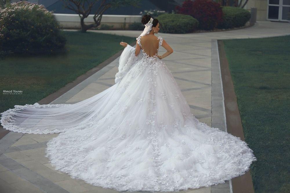 Discount Luxury Princess Ball Gown Wedding Dresses Vestido